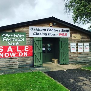 oakham factory shop banners and posters
