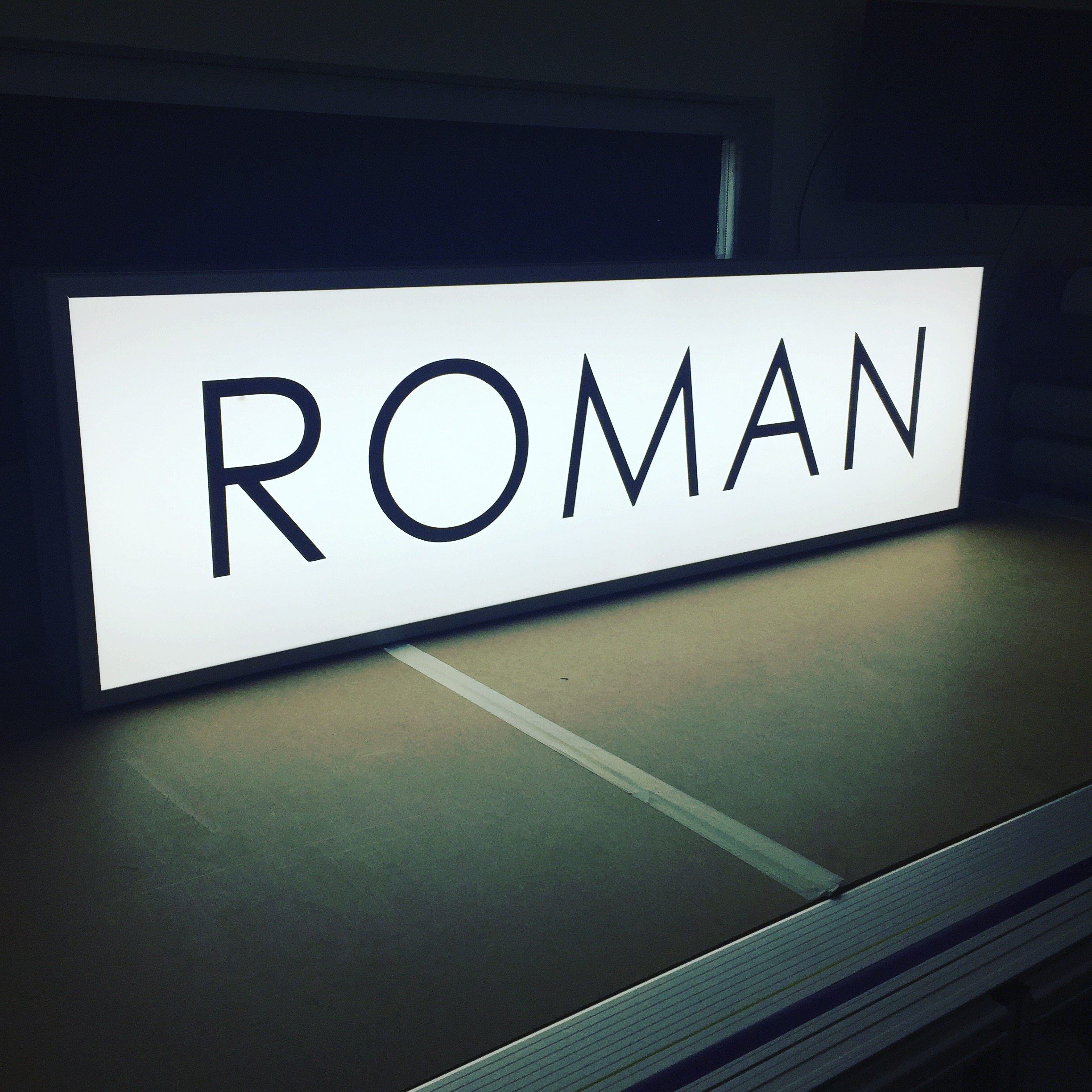 Printed Led Lightbox Signs 90mm 165mm The Print Shop